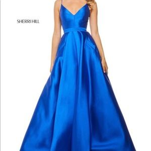 Sherri Hill Royal Blue Prom Dress